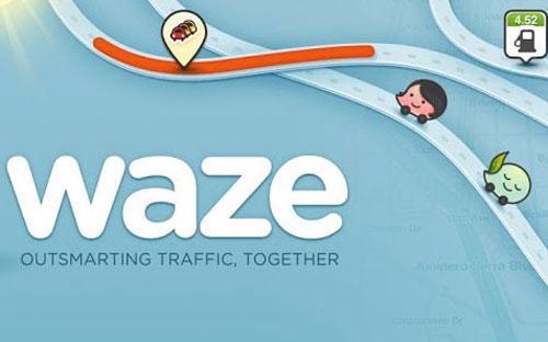 Ứng dụng bản đồ giao thông của hãng Waze Mobile đang trở thành tâm điểm chú ý của nhiều hãng công nghệ lớn trên thế giới như Apple, Facebook, Google - Ảnh: The Tech.<br>