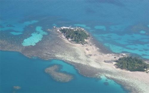 Một phần quần đảo Natuna của Indonesia trên biển Đông.<br>