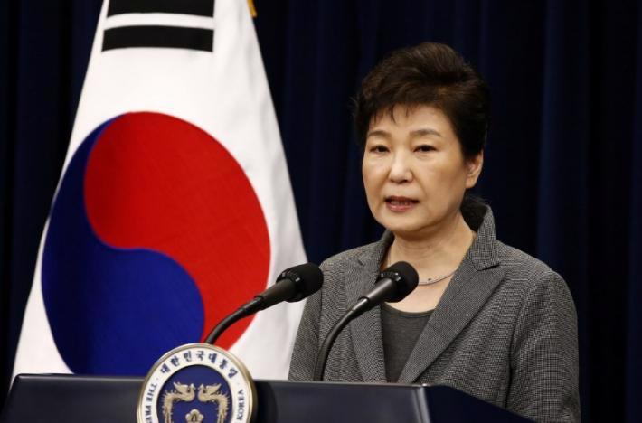 Tổng thống vừa bị phế truất của Hàn Quốc, bà Park Geun Hye - Ảnh: Reuters.<br>