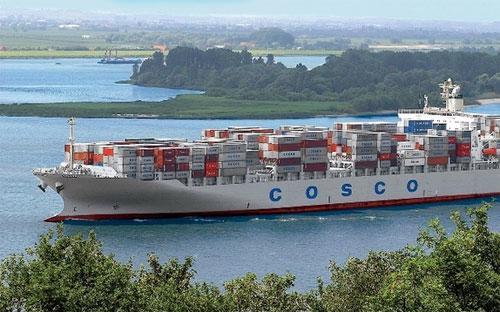 Một con tàu của Cosco - Ảnh: China Daily.<br>