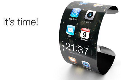 Một thiết kế được cho là của chiếc đồng hồ thông minh iWatch đang được hãng Apple nghiên cứu chế tạo - Ảnh: The Tech.<br>