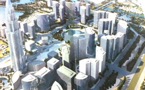 Một góc phối cảnh dự án mà Global Sphere dự định xây tại Hà Nội - Ảnh: Trade Arabia.<br>