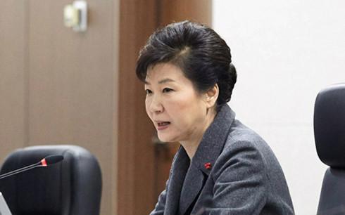 Tổng thống Hàn Quốc Park Geun-hye.<br>