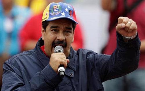 Tổng thống Venezuela Nicolas Maduro phát biểu trong một sự kiện nhân ngày Quốc tế Lao động 1/5/2016 ở Caracas - Ảnh: Reuters.