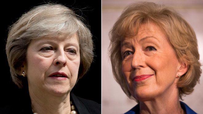 Bà Theresa May (trái) và bà Andrea Leadsom, hai ứng cử viên cho chức Thủ tướng Anh - Ảnh: BBC.<br>