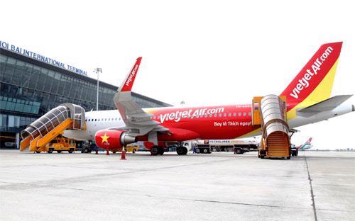 Một máy bay của hãng hàng không Vietjet Air.<br>