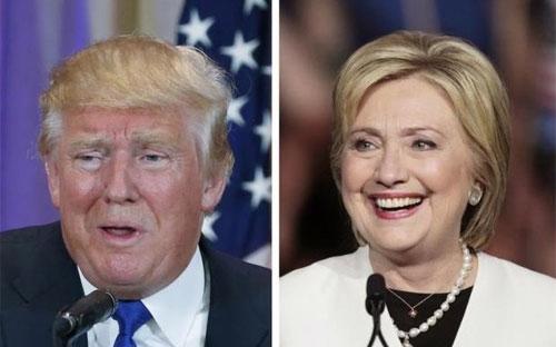 Hai ứng viên tổng thống Mỹ, Donald Trump của Đảng Cộng hòa (trái) và Hillary Clinton (phải) - Ảnh: Reuters.<br>