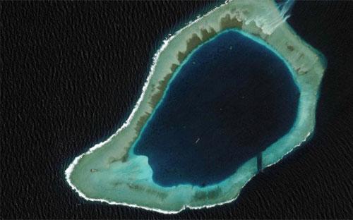Bãi Subi thuộc quần đảo Trường Sa của Việt Nam.<br>