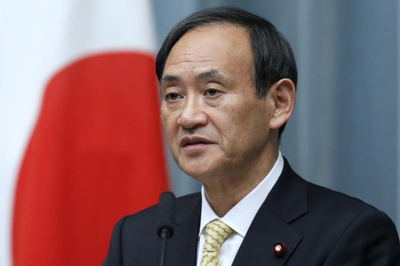 Chánh Văn phòng nội các Nhật Bản Yoshihide Suga - Ảnh: Japan Times.<br>
