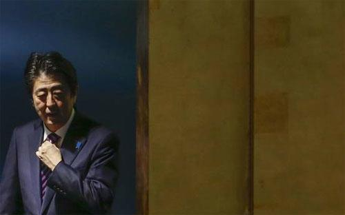 Thủ tướng Nhật Bản Shinzo Abe tại kỳ họp Đại hội đồng Liên hiệp quốc tại New York, Mỹ trong tuần trước - Ảnh: Reuters.<br>