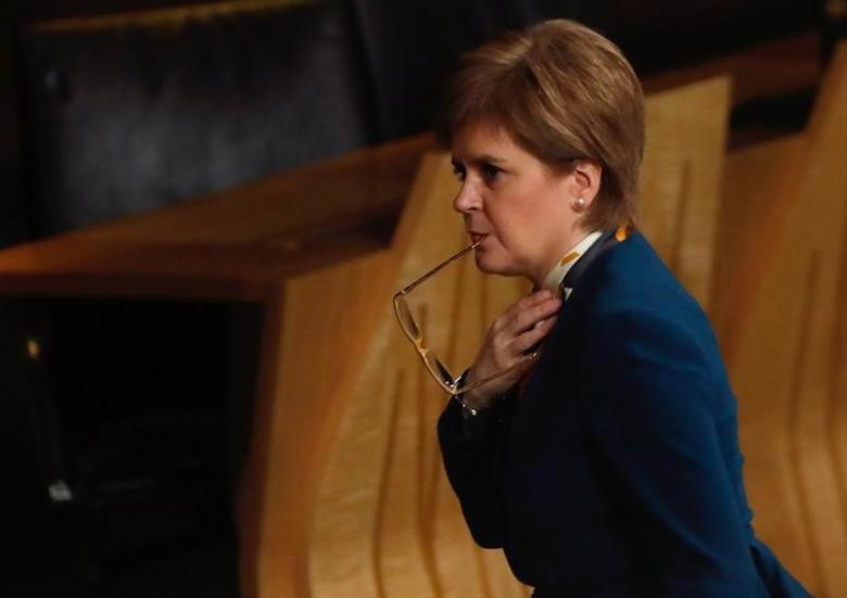 Bà Nicola Sturgeon, thủ hiến Scotland - Ảnh: Reuters.<br>