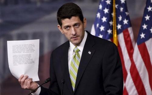 Chủ tịch Hạ viện Mỹ Paul Ryan trong cuộc họp báo ở Đồi Capitol ngày 19/11 - Ảnh: Reuters.<br>