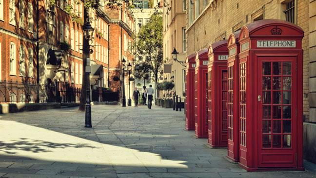 Một đường phố ở London, Anh.<br>