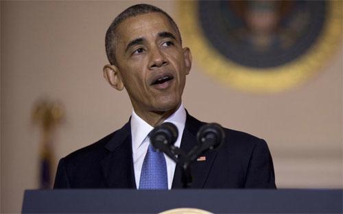 Tổng thống Mỹ Barack Obama phát biểu tại Nhà Trắng ngày 13/5/2016 - Ảnh: AP.<br>