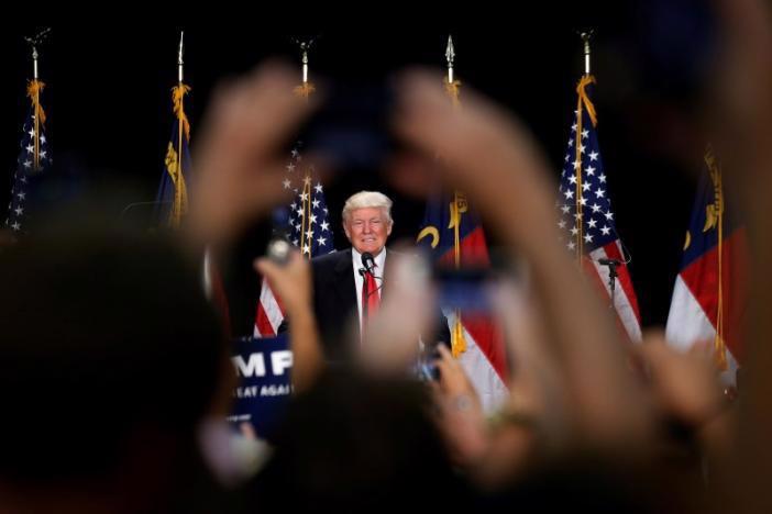 Donald Trump phát biểu ở Charlotte, North Carolina ngày 18/8 - Ảnh: Reuters.<br>