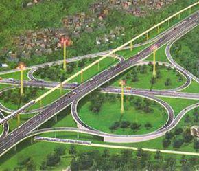 Phối cảnh dự kiến một cung đường cao tốc Hà Nội - Hải Phòng.