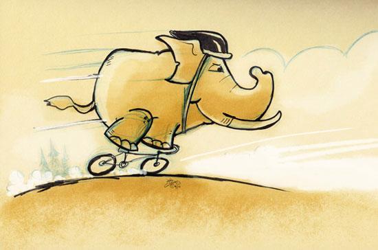 Kinh tế Trung Quốc giống như một chú voi đang cưỡi xe đạp.