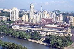 Một góc thủ đô Bình Nhưỡng của Triều Tiên.