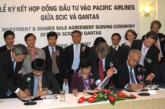 Ngày 26/4/2007, Qantas ký hợp đồng đầu tư vào Pacific Airlines (nay là Jestar Pacific Airlines), một bước trong kế hoạch tái cơ cấu lại hãng hàng không này mà SCIC là đầu mối triển khai.