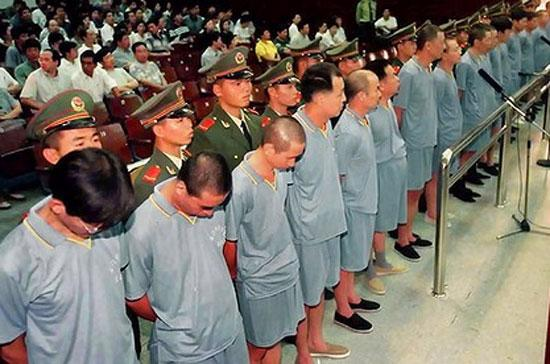 Một vụ xử án tham nhũng tại Trung Quốc - Ảnh: The Age.