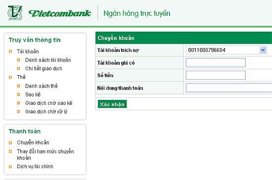 Dịch vụ VCB-iB@nking có thêm tiện ích bên cạnh các giao dịch chuyển khoản, tra cứu số dư, sao kê... trực tuyến đã có.