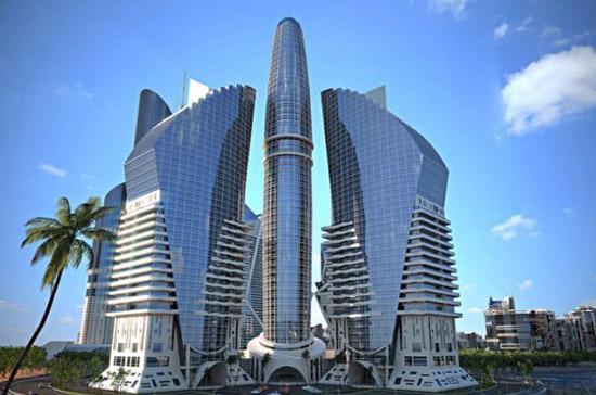 Tháp này sẽ được xây dựng trên một quần đảo nhân tạo mang tên Khazar - Ảnh: News.az/BI.