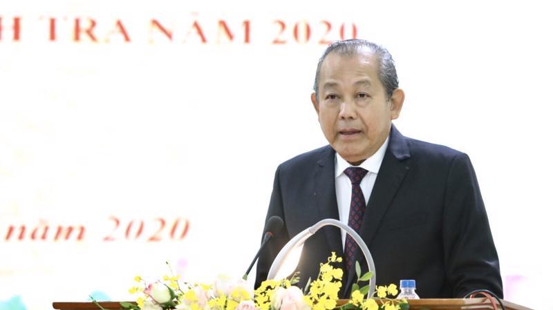 Phó thủ tướng Trương Hòa Bình phát biểu chỉ đạo tại hội nghị.