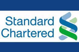 Logo của Ngân hàng Standard Chartered.