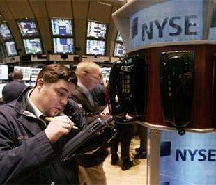 Chứng khoán Mỹ đã tăng điểm ngày thứ hai liên tiếp sau khi Giám đốc điều hành của Ngân hàng JPMorgan Chase, Jamie Dimon cho biết ngân hàng ông đang điều hành đã hoạt động có lãi trong 2 tháng đầu năm - Ảnh: Reuters.
