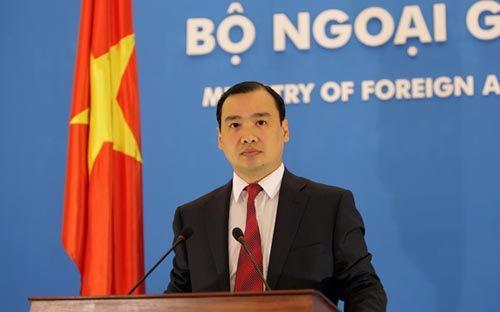 Người phát ngôn của Bộ Ngoại giao, ông Lê Hải Bình.