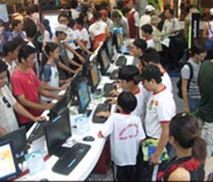 Các game thủ tại ISGAF 2007.