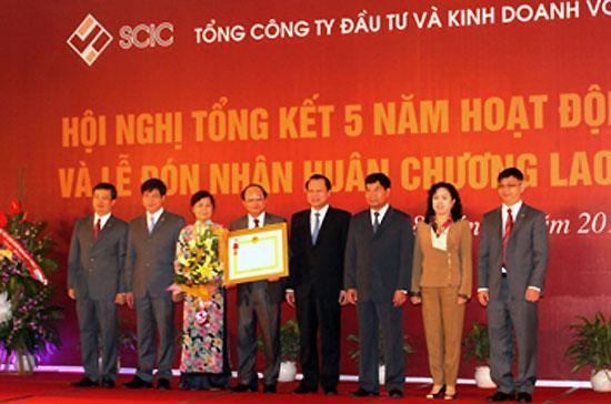 Năm 2011, SCIC kỷ niệm 5 năm thành lập và đón nhận Huân chương Lao động Hạng ba.
