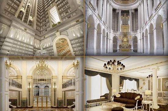 Một số phối cảnh thuộc dự án tòa tháp căn hộ hạng sang D'Palais de Louis.