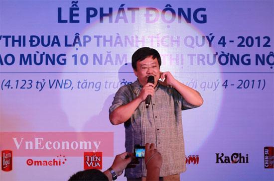 Ông Nguyễn Đăng Quang tại sự kiện do Masan tổ chức ở Tp.HCM chiều 27/8 - Ảnh: Phạm Vinh.