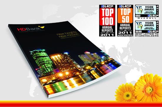 Báo cáo thường niên của HDBank thuộc top 100 báo cáo thường niên xuất sắc thế giới.