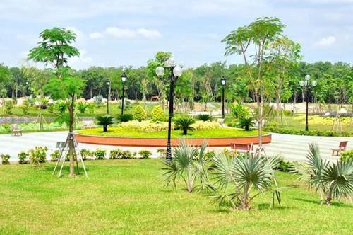 Một góc công viên trung tâm dự án Gold Hill.