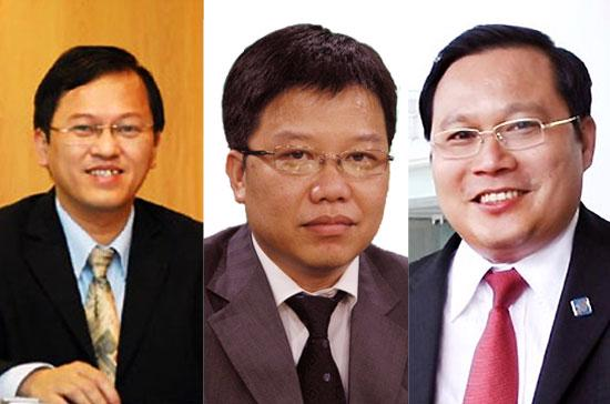 Từ trái qua phải: ông Nguyễn Đức Vinh, ông Nguyễn Hưng và ông Phan Huy Khang.