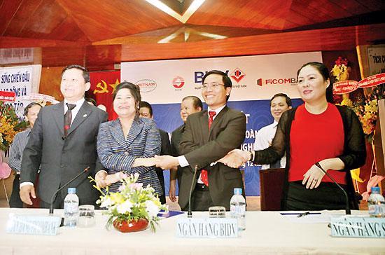 Cuối năm 2011, ba ngân hàng hợp nhất đã ký hợp tác chiến lược với BIDV để có thêm sự hỗ trợ cho ổn định hoạt động.