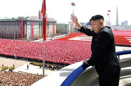 Nhà lãnh đạo Kim Jong Un tại kỷ niệm ngày sinh nhà lãnh đạo quá cố Kim Jong Il vào ngày 15/4 vừa qua ở Bình Nhưỡng - Ảnh: AP.
