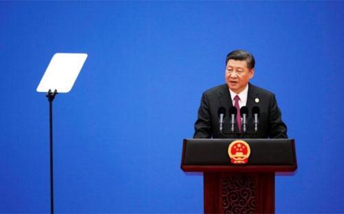 """Chủ tịch Trung Quốc Tập Cận Bình tại hội nghị thượng đỉnh """"Vành đai và Con đường"""" ở Bắc Kinh, tháng 5/2017 - Ảnh: Reuters.<br>"""