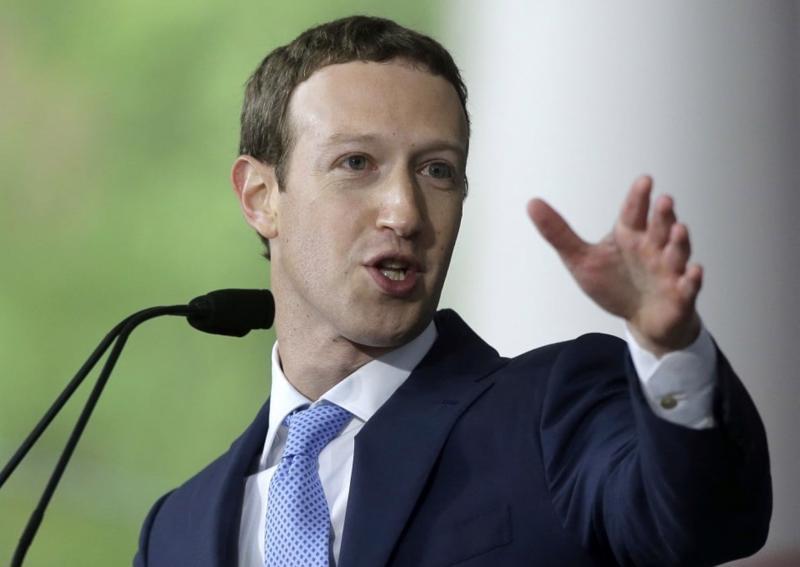 Nhà sáng lập Facebook Mark Zuckerberg - Ảnh: AP/WP.<br>