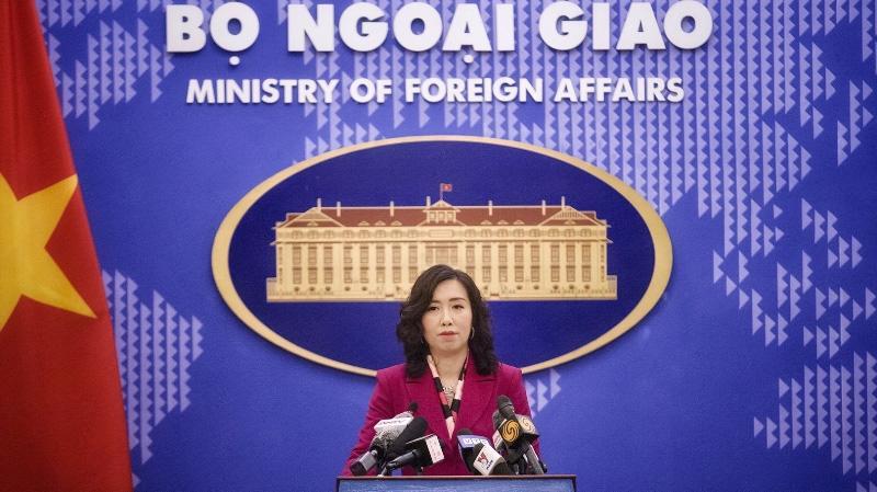 Người Phát ngôn Bộ Ngoại giao Lê Thị Thu Hằng tại họp báo chiều 14/1 - Ảnh: Bộ Ngoại giao