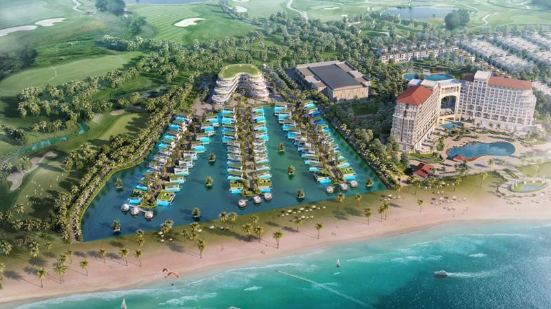 Lagoona Quang Binh Resort&Villas tựa như viên ngọc xanh bên bờ biển Quảng Bình.