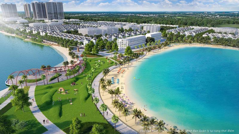 Phối cảnh dự án đại đô thị VinCity Ocean Park với tổng diện tích 420ha.