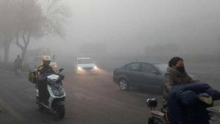 Bắc Kinh chìm trong khói mù sáng 27/10 - Ảnh: SCMP.