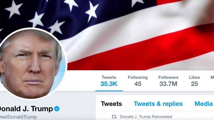 Ảnh chụp màn hình trang Twitter cá nhân của Tổng thống Mỹ Donald Trump hôm 11/7/2017 - Ảnh: Reuters.
