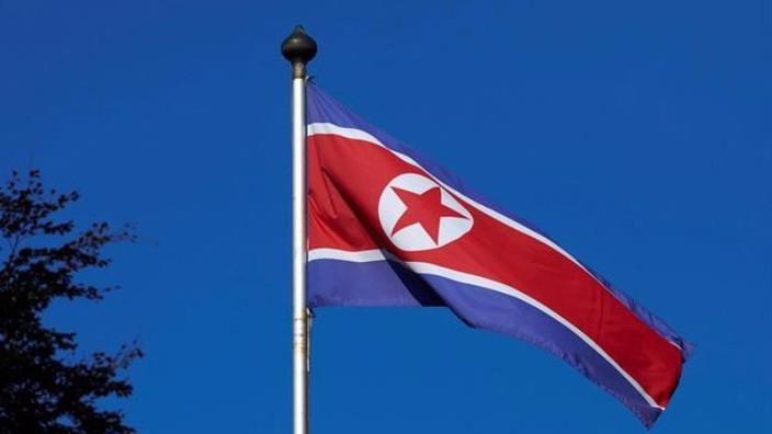 Cờ Triều Tiên tại phái bộ Triều Tiên ở Geneva, Thụy Sỹ, hôm 2/10/2014 - Ảnh: Reuters.