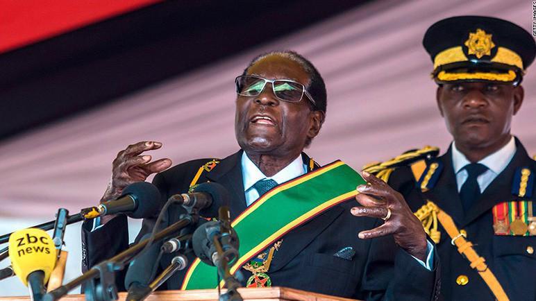 Tổng thống Robert Mugabe của Zimbabwe - Ảnh: Getty/CNBC.
