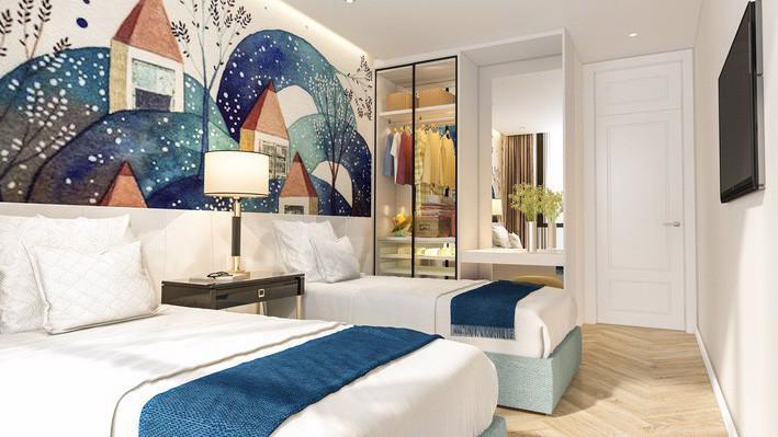 Bên trong một căn hộ khách sạn condotel ở Đà Nẵng.
