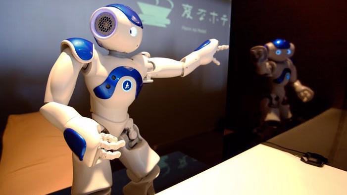 Nhân viên là robot trong một khách sạn ở Nhật Bản.